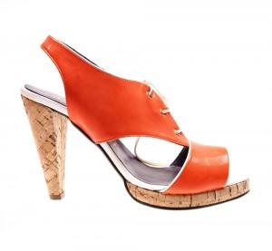 Sandale orange Claudia