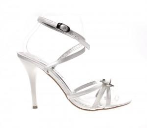Sandale de dama white Bow