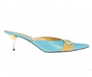Papuci dama albastre Lara