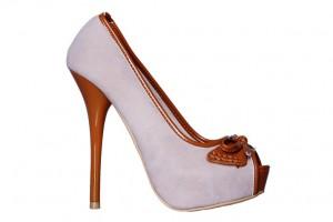 Pantofi dama beige/camel Raven