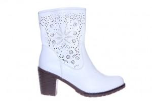 Pantof botina albi Sheela