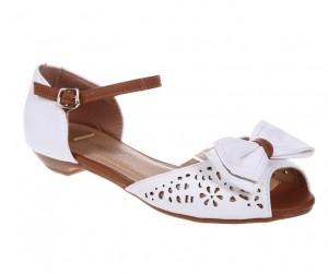 Sandale albe Nancy
