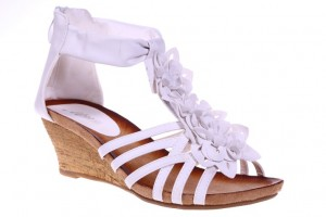 Sandale albe Elena