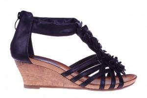 Sandale negre Elena