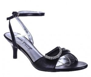 Sandale negre Lucia