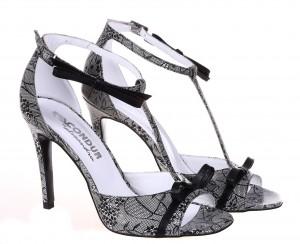 Sandale de dama Black Lace