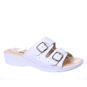 Papuci albi Cali