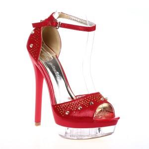 Sandale rosii Glass