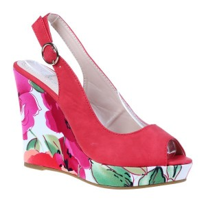Sandale platforma Amalia rosii
