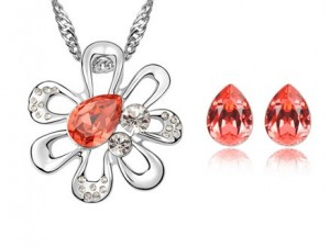 Set de bijuterii cu cristale Swarovski 'Magic Flower'