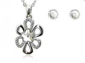 Set de bijuterii cu cristale Swarovski  'Simple Flower'