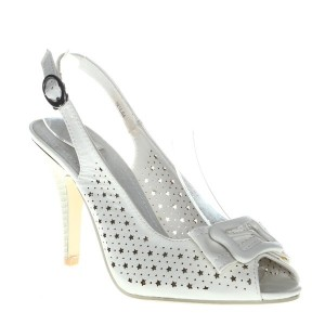 Sandale albe Grettle