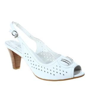 Sandale albe Marble
