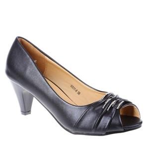 Pantofi decupati Dapheny negri