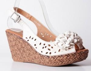 Sandale albe Melinda