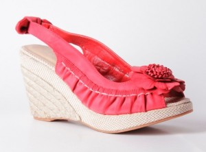 Sandale rosii Cristina