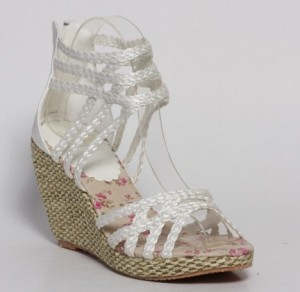 Sandale albe Moni