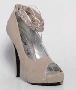 Pantofi bej Peep