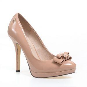 Pantofi cu toc bej de dama MENBUR