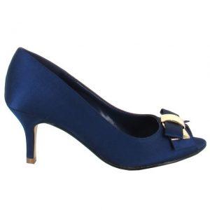 Pantofi cu toc bleumarin de dama AVANCE