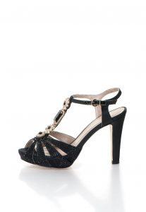 Sandale negre cu strasuri Roberto Botella